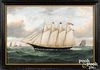 Attributed to William and Mary Yorke schooner