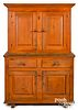 Pennsylvania painted two-part cupboard, ca. 1800