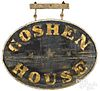 Painted Goshen House double sided trade sign
