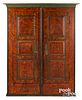 Ohio Mennonite painted poplar wardrobe, 19th c.