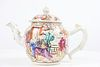 18th C Chinese Teapot, Famille Figures