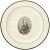 c. 1800 Lord Horatio Nelson Herculaneum Portrait Plate British Admiral Hero of Trafalgar