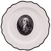 UNIQUE - James Madison Herculaneum Creamware Portrait Plate, Not Listed in Arman