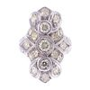 An Art Deco Style Diamond Ring in 18K White Gold