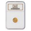 1860-D Gold Dollar NGC MS60