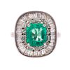 An Untreated 2.35 ct Emerald & Diamond Ring in 14K
