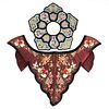 Grp: 2 19th/20th C. Chinese Embroidered Silk Collars