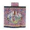 19th C. Chinese Peking Enamel Tea Caddy