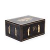 19th C. Chinese Export Lacquer Tea Caddy Box