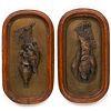 Pair of Auguste Cain Bronze Bird Plaques