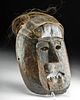 19th C. Nepalese Wood Shaman Mask with Hair and Bone