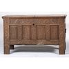 A Dutch Carved Oak Blanket Chest