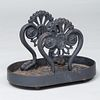 Large Victorian Black Painted Cast Iron Boot Scraper