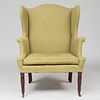 Federal Mahogany Wing Chair, Possibly New York
