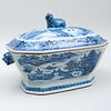 Chinese Export Blue and White Porcelain Tureen and Cover