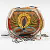Iroquois Beaded Cloth Bombé Form Purse