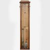 Edwardian Oak Barometer, Alfred Davis Sole Manufacturer, London
