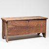 Early American Six-Board White Pine and Chestnut Blanket Chest