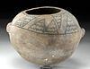 Prehistoric Anasazi Chaco Black-on-White Seed Jar