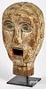 Carved and painted carnival head, 19th c.