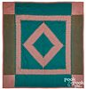 Amish sawtooth diamond quilt, early/mid 20th c.