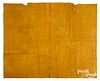 Tan linsey woolsey quilt, early 19th c.