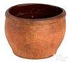 Shenandoah Valley redware crock, 19th c.