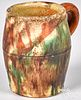 Shenandoah Valley redware mug, 19th c.
