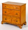 Canadian tiger maple chest of drawers