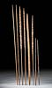 Eight 20th C. Indonesian Asmat Wood & Bamboo Arrows
