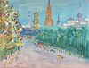 "JEAN DUFY (French 1888-1964) A PAINTING, ""Edinburgh en Ecosse,"""
