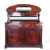Trinchador. Siglo XX. Estilo Art Nouveau. Elaborado en madera enchapada. A 2 cuerpos.