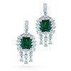 GIA & C. Dunaigre Emerald and Diamond Earrings