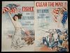 (4) LOOSE WWI MEDIUM-SIZED BOND POSTERS BY HOWARD CHANDLER CHRISTY