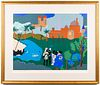 "Romare Bearden ""Odysseus Leaves"" Color Screenprint"