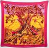 "Hermes ""Kuggor Tree"" Cashmere & Silk Scarf"