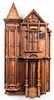 Carved Oak Model Of A Victorian Townhouse, Signed