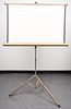 Mid-Century Vintage Collapsible Projection Screen