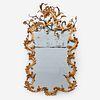A Rare Louis XV Gilt Tole and Wrought Iron Mirror, 18th century