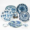 Group of Blue and White Chinese Export Tableware