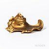 Art Nouveau Gilt-bronze Inkwell