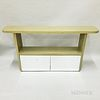 Custom Modern Green-painted and Mirrored Console Table