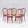Five Italian Metal Chairs