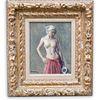 "Robert Brackman (American, 1898-1980) "" Figure Study"" Oil on Canvas"