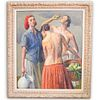 "Robert Brackman (American, 1898-1980) "" Harvest Time"" Oil on Canvas"