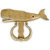 Mid Century Brass Whale Door Knocker