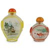 (4 Pc) Chinese Reverse Painted Snuff Bottles