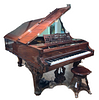 A Henry F.Miller, Boston Rosewood Grand Piano