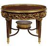 Exceptional Quality French Ormolu-Mounted Mahogany Center Table, Attrib F. Linke