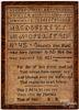 Silk on linen sampler dated 1823, etc.